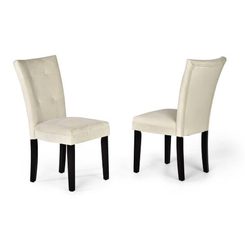 Copper Grove Zinnia Microsuede Dining Chairs (Set of 2)