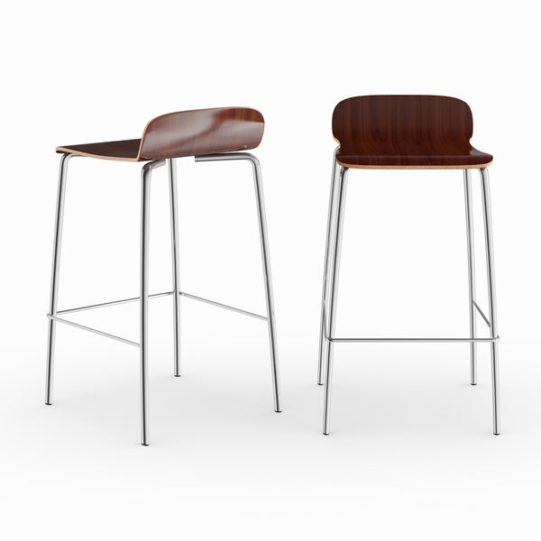 Carson Carrington Havdrup Contemporary Stackable Barstool (Set of 2)