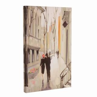 Copper Grove 'Village Promenade Neutral' Canvas Art