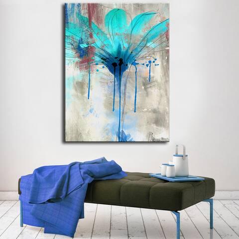 Copper Grove Flower Canvas Wall Art