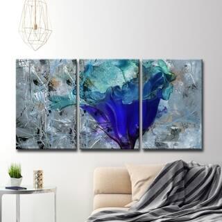 Copper Grove Blue Flower Canvas Wall Art