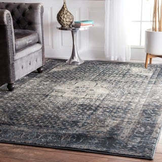 Maison Rouge Marvazi Traditional Vintage Fancy Blue Rug - 5' 11 x 9'
