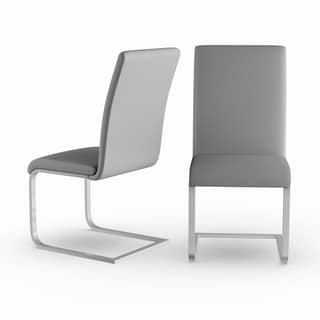 Strick & Bolton Stanya Contemporary Steel Dining Chairs (Set of 2)