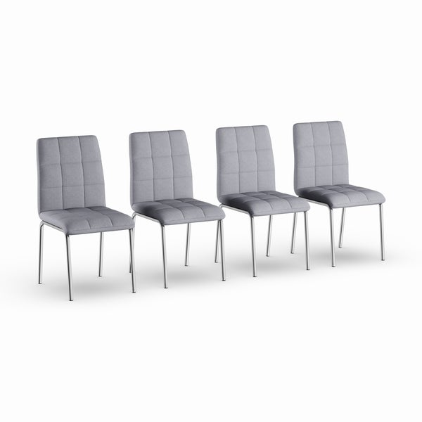 Strick & Bolton Kruger Chrome Dining Chair (Set of 4). Opens flyout.