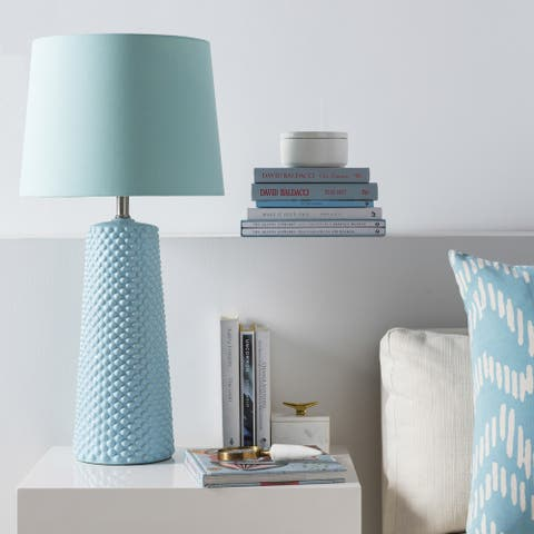 The Curated Nomad Duro Glazed Ceramic Table Lamp