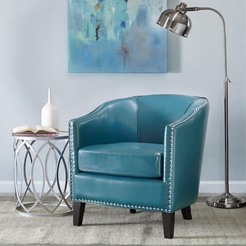 Strick & Bolton Lydia Barrel Arm Chair in Blue