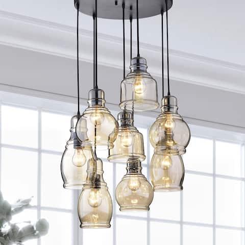 Buy black chandeliers online at overstock our best lighting deals oliver james yinka antique glass cluster lights aloadofball Gallery
