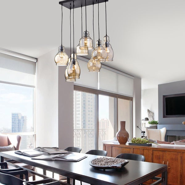 Oliver & James Yinka Antique Glass Pendant Lights