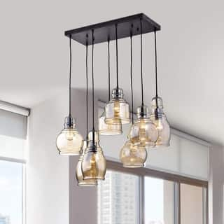 Buy modern contemporary chandeliers online at overstock our oliver james yinka antique glass pendant lights aloadofball Images