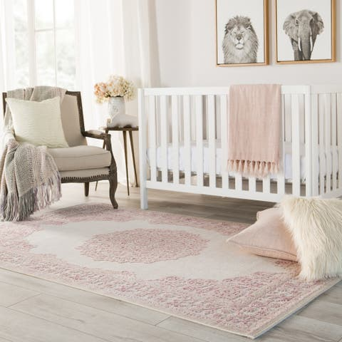 Copper Grove Pascal Pink and White Area Rug (5' x 7'6) - 5' x 7'6""