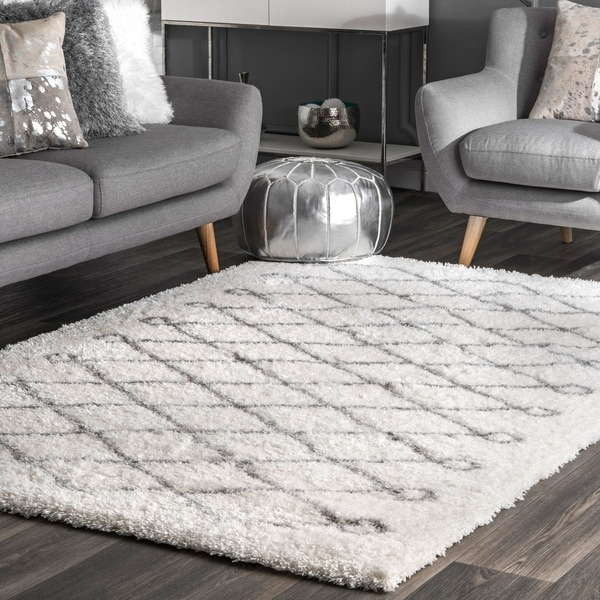 nuLOOM Soft and Plush Cloudy Shag Diamond Rug. Opens flyout.