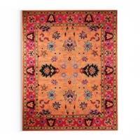 Gracewood Hollow Odyssey Handmade Overdyed Traditional Orange Wool Rug  - 11'6 x 14'6