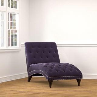 Copper Grove Lottie Purple Velvet Chaise Lounge