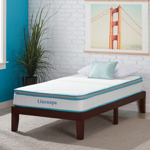 Shop LINENSPA Twin XL-size Memory Foam and Spring Mattress ...
