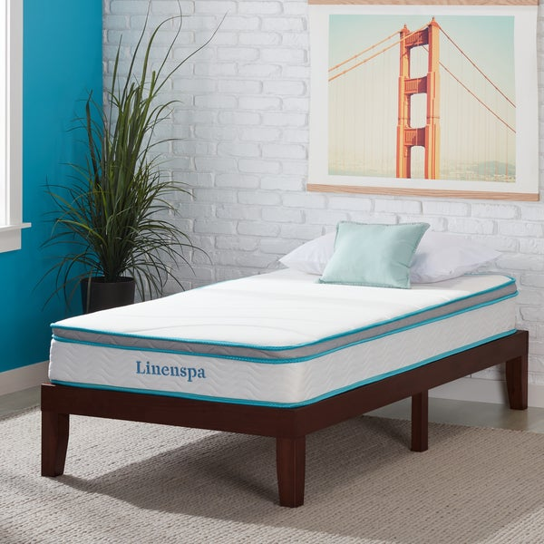 osleep 8 inch twin xl size memory foam and spring mattress free shipping today overstock. Black Bedroom Furniture Sets. Home Design Ideas