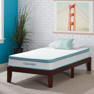 LINENSPA Twin XL-size Memory Foam and Spring Mattress