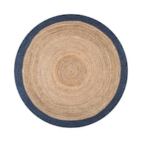 The Gray Barn Cinch Buckle Braided Reversible Border Jute Rug - 6' Round