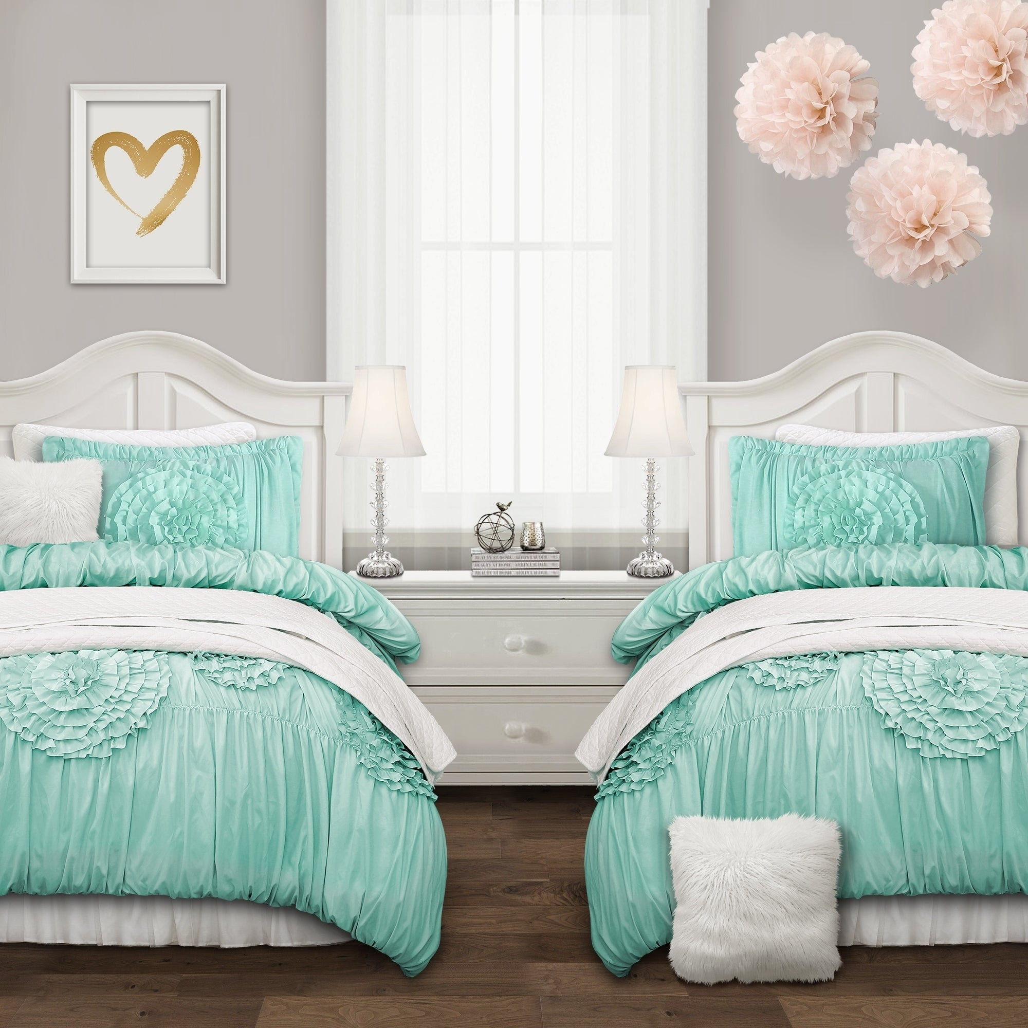 Silver Orchid O\'Fredericks Blush 3-piece Comforter Set