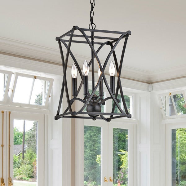 The Gray Barn Inyo Iron Antique Black Chandelier - N/A. Opens flyout.