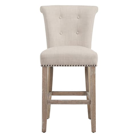 The Gray Barn Mustang Beige Fabric Counter Stool (Set of 2)