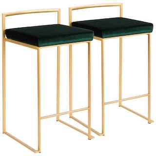 Oliver James Krupa Gold Stackable Counter Stool Set Of