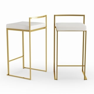 Silver Orchid Forrest Gold Stackable Counter Stool (Set of 2)