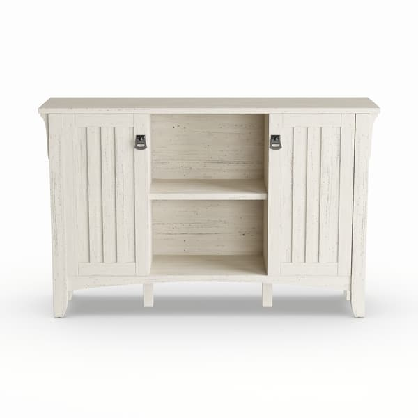 The Gray Barn Lowbridge Antique White Storage Cabinet