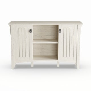 "The Gray Barn Lowbridge Antique White Storage Cabinet with Doors - 46.22""L x 12.76""W x 29.96""H"