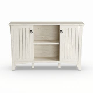 The Gray Barn Lowbridge Antique White Storage Cabinet With Doors