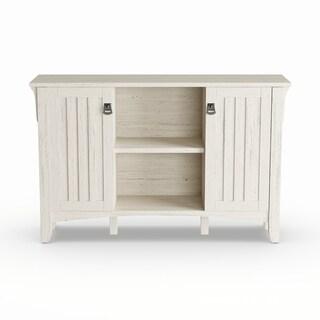 The Gray Barn Lowbridge Antique White Storage Cabinet with Doors