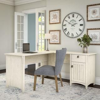 Exceptional Maison Rouge Lucius Antique White L Shaped Storage Desk