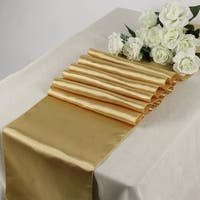 Pack Of 10 Gold Wedding 12 x 108 Satin Table Runner For Wedding Banquet