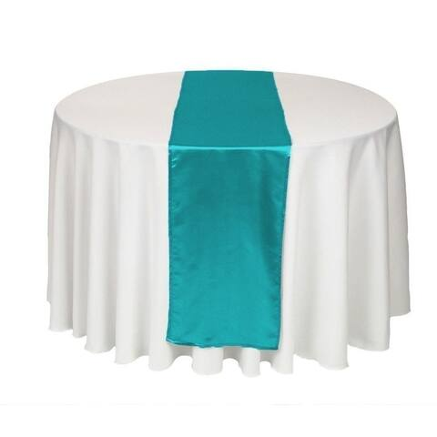 Pack Of 10 Teal Wedding 12 x 108 Satin Table Runner For Wedding Banquet