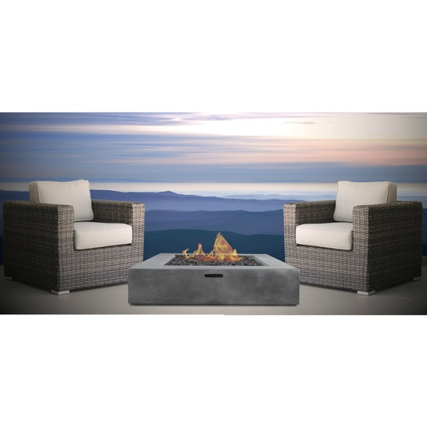 Loveseat with Cushions Resort Grade Outdoor Furniture Patio Sofa Set With Back Cushions