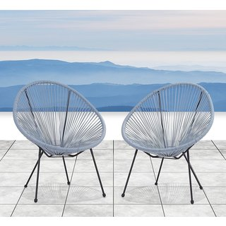 Acapulco Resort Grade Set of 2 Chairs (Blue-Grey)