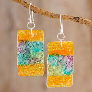 Handmade Recycled CD 'Celebrate Creativity' Earrings (Guatemala)