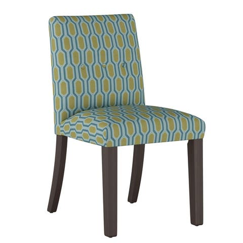 The Curated Nomad Hofn Tapered Dining Chair with Buttons in Prints - N/A