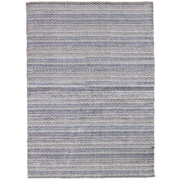 eCarpetGallery Hand-knotted Luribaft Gabbeh Riz Light Grey Silk Rug (4'8 x 6'7)
