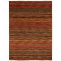 eCarpetGallery Hand Tufted Chic Red Wool Rug - 4'8 x 6'5