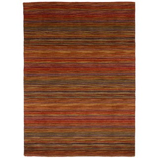 eCarpetGallery Hand Tufted Chic Red Wool Rug (4'8 x 6'5)