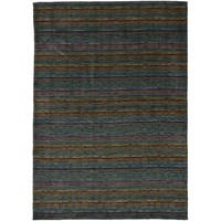 eCarpetGallery  Hand-knotted Luribaft Gabbeh Riz Blue Wool Rug (5'3 x 7'7)