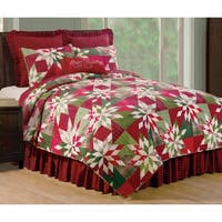 Isley Printed Pinwheel and Patchwork Cotton Quilt Set