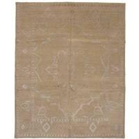 eCarpetGallery  Hand-knotted La Seda Tan Silk, Wool Rug (8'0 x 10'0)