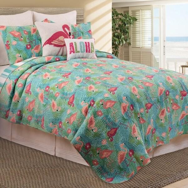 Adelaide Flamingo Tropical Cotton Quilt
