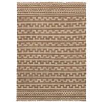 eCarpetGallery  Flat-weave Izmir Kilim Brown Wool Kilim (5'3 x 8'1)