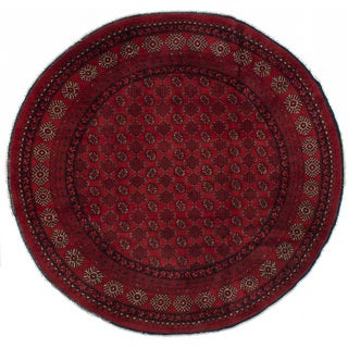 eCarpetGallery Hand-knotted Khal Mohammadi Red Wool Rug (8'6 x 8'3)