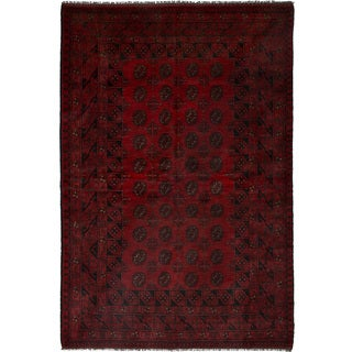 eCarpetGallery Hand-knotted Khal Mohammadi Red Wool Rug (5'3 x 7'10)