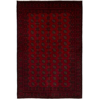 eCarpetGallery  Hand-knotted Khal Mohammadi Red Wool Rug (5'2 x 7'7)
