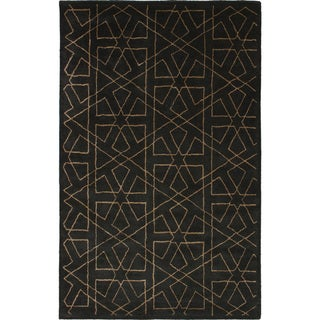 eCarpetGallery Hand Tufted Abstract Art Silk/ Wool Rug - 5' x 8'