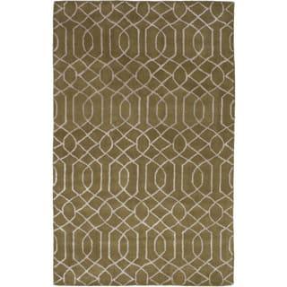 eCarpetGallery Hand Tufted Kasbah Silk/ Wool Rug - 5' x 8'